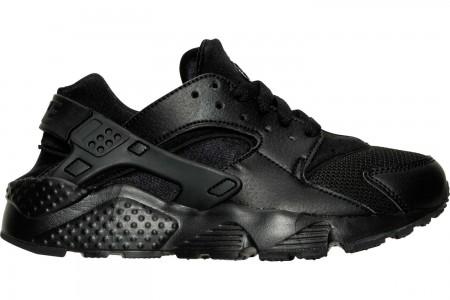 Nike Big Kids' Nike Huarache Run Casual Shoes - Black/Black/Black