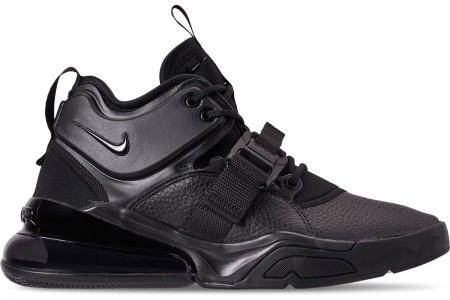 Nike Men's Air Force 270 Off-Court Shoes - Triple Black