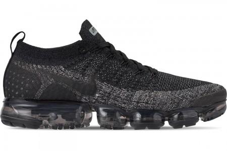 Nike Men's Air VaporMax Flyknit 2 Running Shoes - Black/Black/Dark Grey/Anthracite