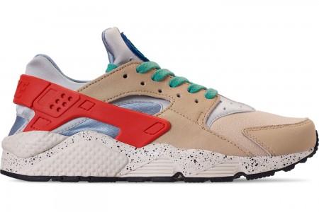 Nike Men's Nike Air Huarache Run Premium Casual Shoes - Desert Ore/Indigo Force/Hyper Jade