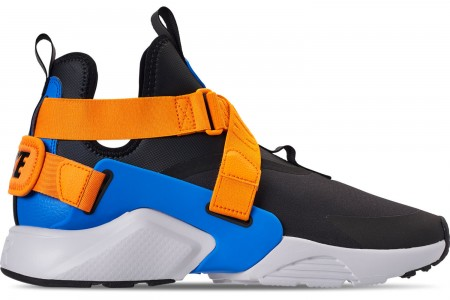Nike Women's Nike Air Huarache City Casual Shoes - Black/Photo Blue/Orange Peel