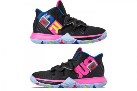 Nike Boys' Big Kids' Kyrie 5 Basketball Shoes - Black/Volt/Hyper Pink