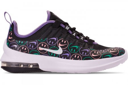 Nike Big Kids' Air Max Axis Print Running Shoes - Black/White/Space Purple/Hyper Jade