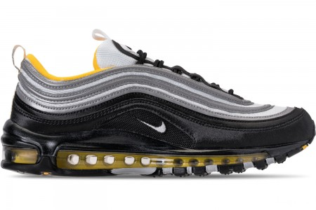 Nike Men's Air Max 97 Casual Shoes - Black/White/Amarillo