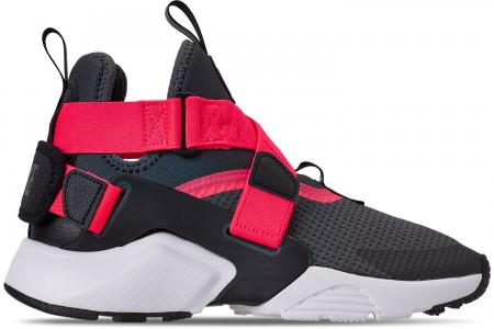 Nike Boys' Big Kids' Nike Huarache City Casual Shoes - Anthracite/Black/Solar Red