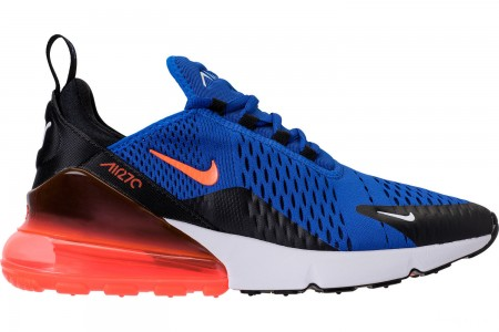 Nike Men's Air Max 270 Casual Shoes - Racer Blue/Hyper Crimson/Black