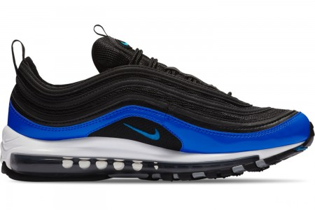 Nike Men's Air Max 97 Casual Shoes - Black/Blue Nebula/Wolf Grey