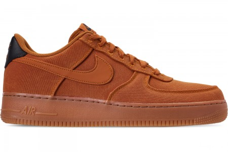 Nike Men's Air Force 1 '07 LV8 Style Casual Shoes - Monarch/Monarch/Gum Medium Brown/Black