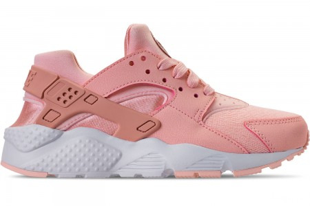 Nike Girls' Big Kids' Nike Air Huarache Run SE Casual Shoes - Storm Pink/Rust Pink/White