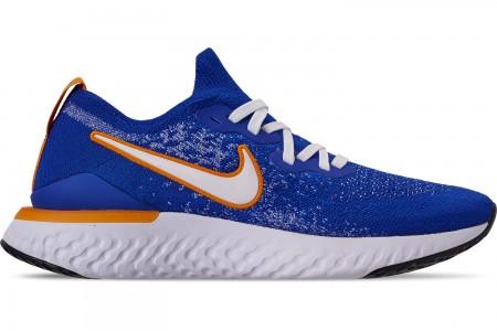 Nike Men's Epic React Flyknit 2 Running Shoes - Racer Blue/White/Black/Orange Peel