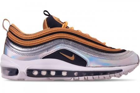 Nike Women's Air Max 97 SE Casual Shoes - Metallic Gold/Metallic Silver/Black