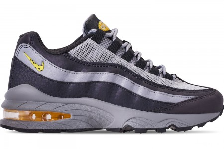 Nike Boys' Big Kids' Air Max 95 Mekbuda Casual Shoes - Off Noir/Dynamic Yellow/Atmosphere Grey