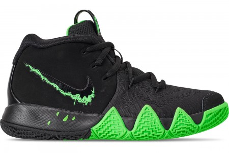 Nike Boys' Little Kids' Kyrie 4 Basketball Shoes - Black/Rage Green