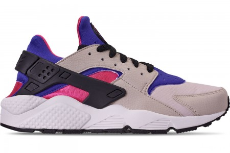 Nike Men's Nike Air Huarache Run Casual Shoes - Desert Sand/Persian Violet/Black
