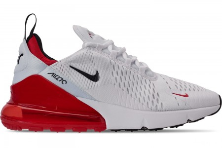Nike Men's Air Max 270 Casual Shoes - White/Black/University Red