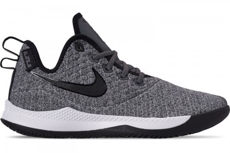 Nike Men's LeBron Witness 3 Basketball Shoes - Dark Grey/Black/White