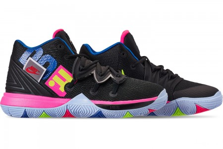 Nike Boys' Little Kids' Kyrie 5 Basketball Shoes - Black/Volt/Hyper Pink
