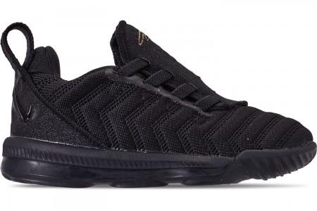 Nike Boys' Toddler LeBron 16 Basketball Shoes - Black/Metallic Gold/Black
