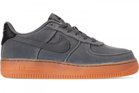 Nike Boys' Big Kids' Air Force 1 '07 LV8 Style Casual Shoes - Black/Black/Gum Medium Brown