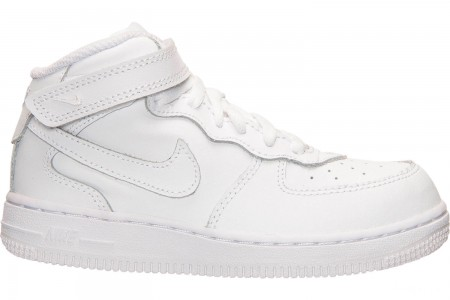 Nike Toddler Air Force 1 Mid Basketball Shoes - White