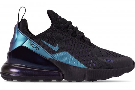 Nike Big Kids' Air Max 270 Casual Shoes - Black/Anthracite/Regency Purple