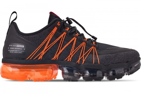 Nike Men's Air VaporMax Run Utility Running Shoes - Black/Reflect Silver/Oil Grey