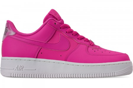 Nike Women's Air Force 1 '07 Essential Casual Shoes - Laser Fuchsia/Laser Fuchsia/Summit