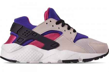 Nike Big Kids' Nike Huarache Run Casual Shoes - Desert Sand/Persian Violet/Black