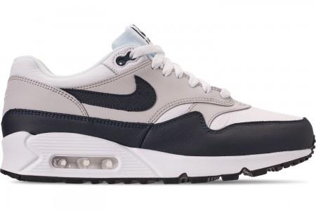 Nike Men's Air Max 90/1 Casual Shoes - White/Dark Obsidian/Neutral Grey