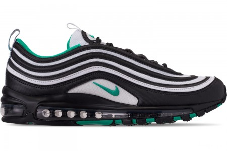 Nike Men's Air Max 97 Casual Shoes - Black/Clear Emerald/White