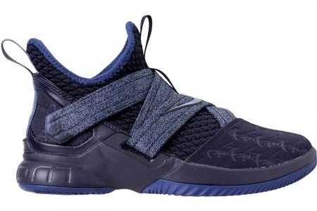 Nike Boys' Big Kids' LeBron Soldier 12 Basketball Shoes - Blackened Blue/Work Blue/Gym Blue