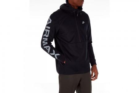 Nike Men's Sportswear Air Max Half-Zip Hoodie - Black