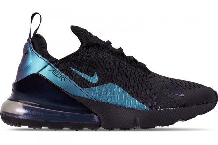 Nike Men's Air Max 270 Casual Shoes - Black/Laser Fuchsia/Regency Purple