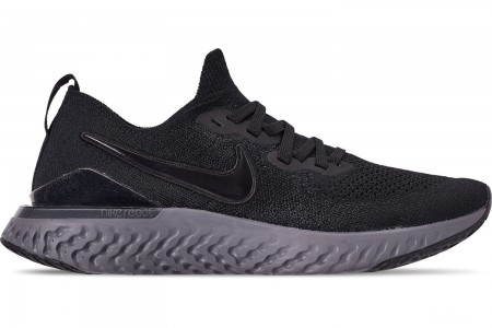 Nike Men's Epic React Flyknit 2 Running Shoes - Black/Black/Anthracite/Gunsmoke