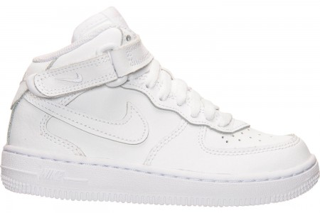 Nike Little Kids' Air Force 1 Mid Basketball Shoes - White