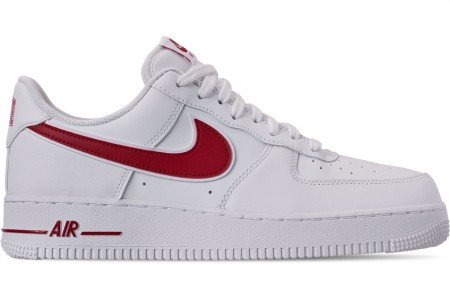Nike Men's Air Force 1 '07 3 Casual Shoes - White/Gym Red
