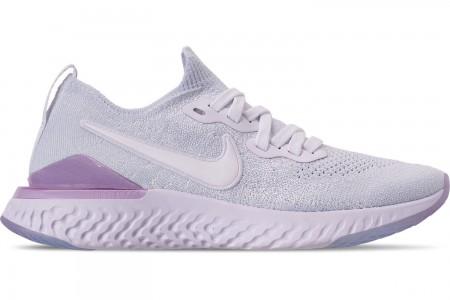 Nike Women's Epic React Flyknit 2 Running Shoes - White/White/Pink Foam