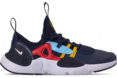 Nike Boys' Big Kids' Nike Huarache E.D.G.E Casual Shoes - Obsidian/White/Blue Gaze/University Red