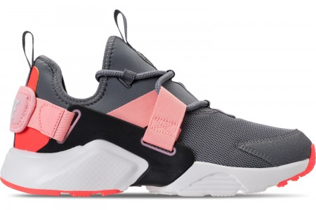 Nike Women's Nike Air Huarache City Low Casual Shoes - Cool Grey/Summit White/Oracle Pink