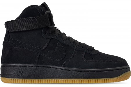 Nike Boys' Big Kids' Air Force 1 High LV8 Casual Shoes - Black/Black/Gum Light Brown