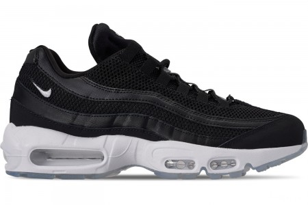 Nike Men's Air Max 95 Essential Casual Shoes - Black/White/Black/Reflect Silver
