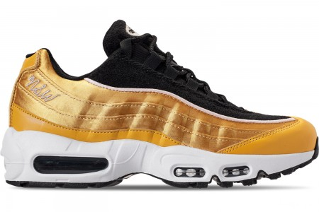 Nike Women's Air Max 95 LX Casual Shoes - Wheat Gold/Black/Guava Ice