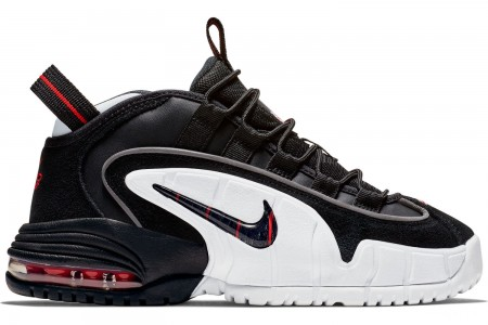 Nike Boys' Big Kids' Air Max Penny Basketball Shoes - Black/Black/White/University Red