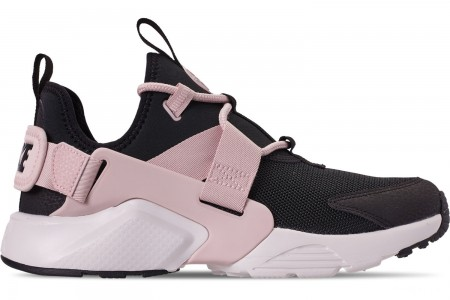 Nike Women's Nike Air Huarache City Low Casual Shoes - Black/Barely Rose/Summit White