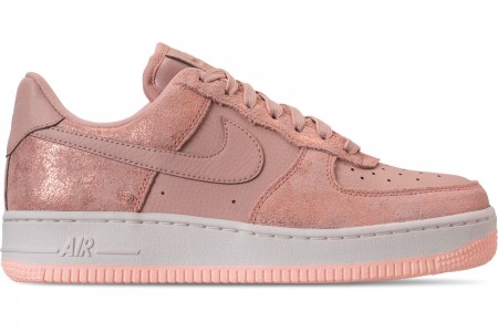 Nike Women's Air Force 1 '07 Premium Casual Shoes - Metallic Red Bronze/Particle Beige