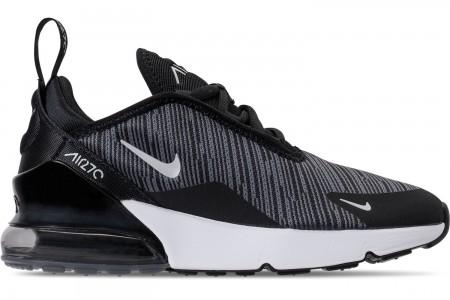 Nike Little Kids' Air Max 270 Casual Shoes - Black/Wolf Grey/Dark Grey/White