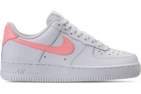 Nike Women's Air Force 1 '07 Casual Shoes - White/Oracle Pink/White