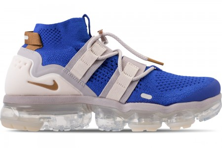Nike Men's Air VaporMax Flyknit Utility Running Shoes - Racer Blue/Muted Bronze/Moon Particle