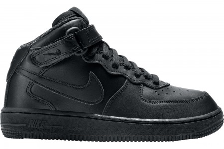 Nike Little Kids' Air Force 1 Mid Basketball Shoes - Black