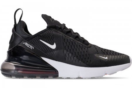 Nike Men's Air Max 270 Casual Shoes - Black/Anthracite/White/Solar Red